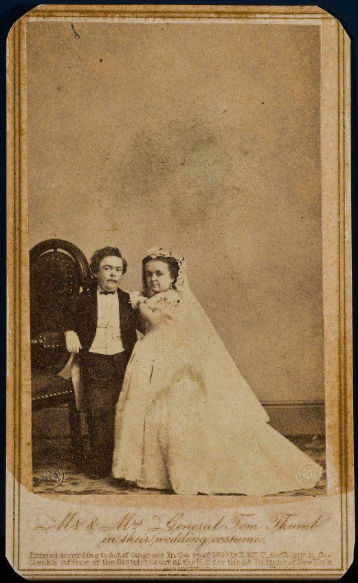 Mathew Brady, <em>Mr. and Mrs. Tom Thumb in their Wedding Costume</em> (1863), Carte-de-visite, <em>2015.14.14</em>