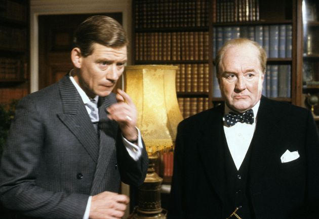 Robert as Churchill in 'The Woman He Loved', alongside Anthony Andrews as the Prince Of