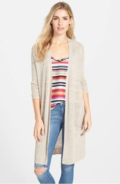 """<a href=""""http://shop.nordstrom.com/s/halogen-long-linen-blend-cardigan-regular-petite/3870446?fashioncolor=PINK%20SMOKE&o"""