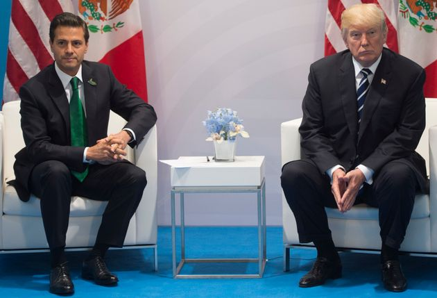 President Donald Trump and Mexican President Enrique Pena Nieto hold a meeting on the sidelines of the...