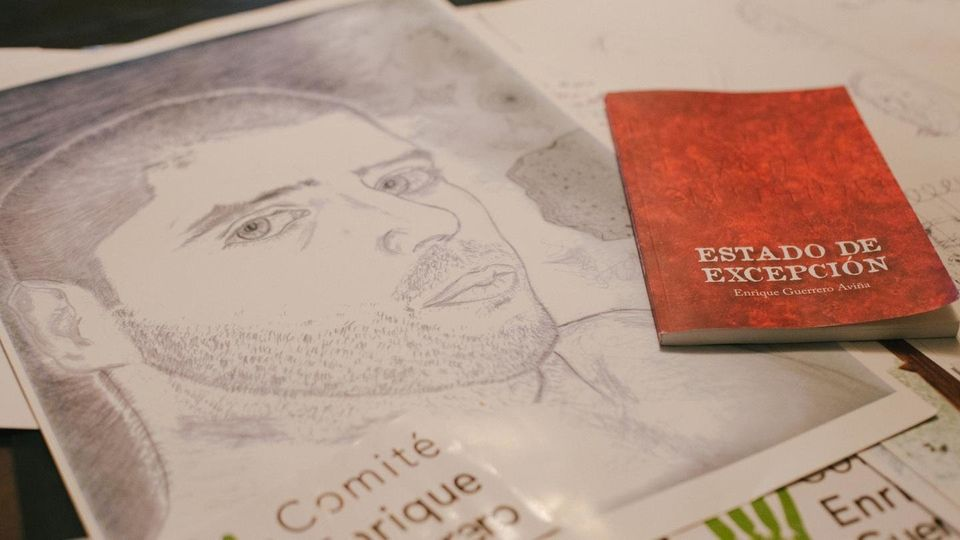 While in prison, Enrique Guerrero wrote a book of his experience and often likes to draw self-portraits.