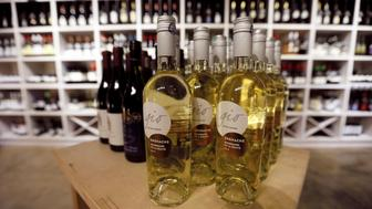 Bottles of wine are seen on display at the House of Wines shop in Colombo, Sri Lanka June 20, 2017. REUTERS/Dinuka Liyanawatte