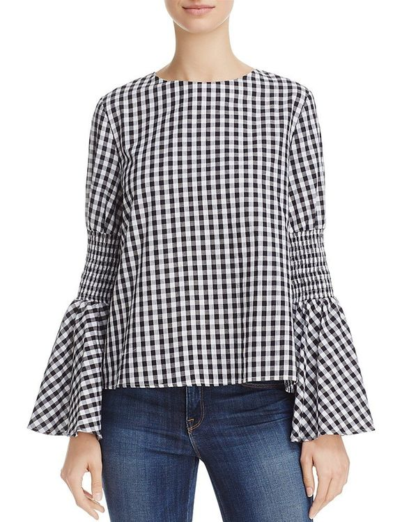 """<a href=""""https://www.bloomingdales.com/shop/product/endless-rose-gingham-flare-sleeve-top?ID=2625129&CategoryID=1002083#f"""