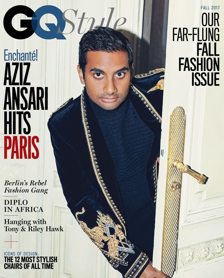 Aziz Ansari on the cover of GQ Style.