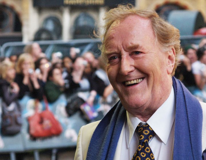 "Robert Hardy at the premiere of ""Harry Potter and the Order of the Phoenix"" in 2007."