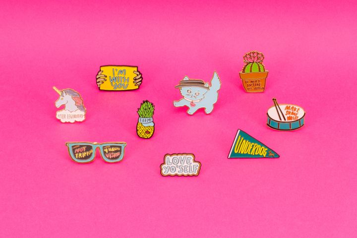 Wildfang's new exclusive pin collection designed by badass female celebrities.
