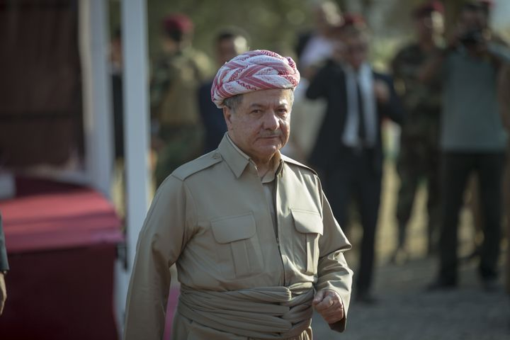 Masud Barzani, the president of the Iraqi Kurdish Regional Government, at a ceremony in July.