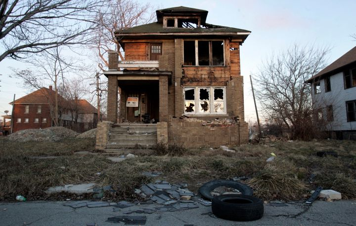 An abandoned, vacant house is seen in Detroit on Jan. 3, 2012.