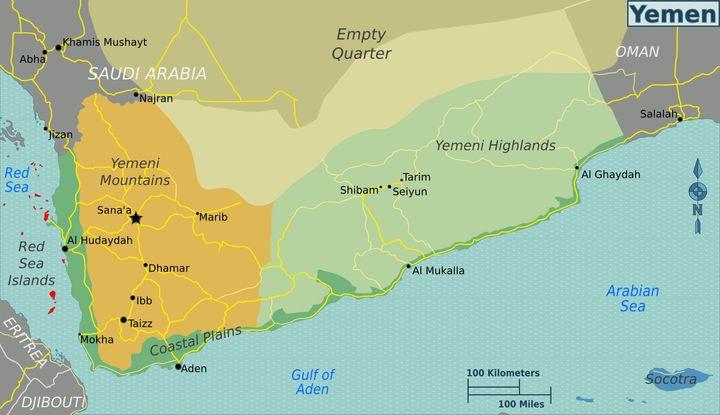 How US Policy Helps Al Qaeda In Yemen HuffPost - Yemen map png