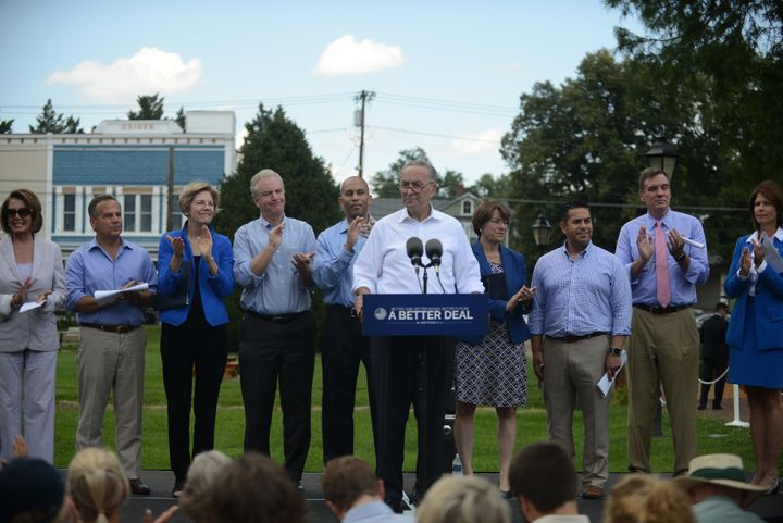 Democrats roll out their economic agenda in Berryville, Virginia, on July 24 as part of the party's plan to win the 2018