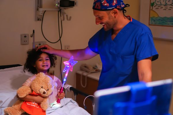 """""""Beyoncé loves to spread magic with her special wand. It was the perfect toy to comfort her during hernia surgery."""""""