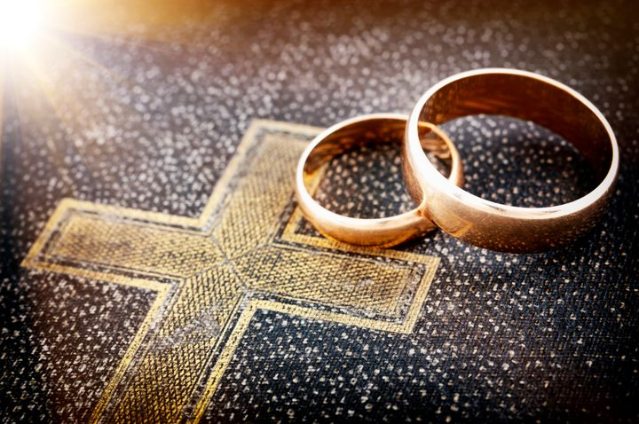 Catholic weddings are typically presided over by a priest.
