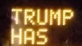 Trump highway sign