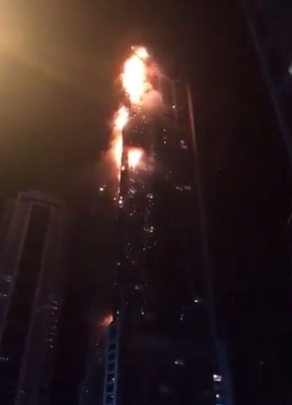 Blaze Tears Up Side Of Record-Breaking Dubai Skyscraper In Chilling Echo Of
