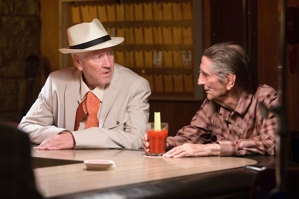 David Lynch and Harry Dean Stanton in a still from 'Lucky'