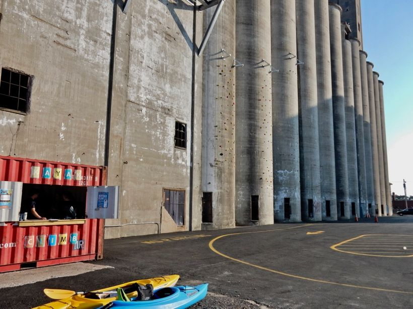 Climbing Silos at Riverworks, Buffalo NY