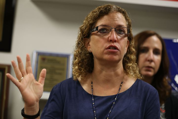"""CongresswomanDebbie Wasserman Schultz said she had """"grave concerns"""" about her aide's due process rights being violated"""
