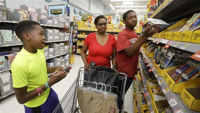 Shoppers in Texas look at school supplies. Texas still has a sales tax holiday, but other states have scrapped theirs or cut