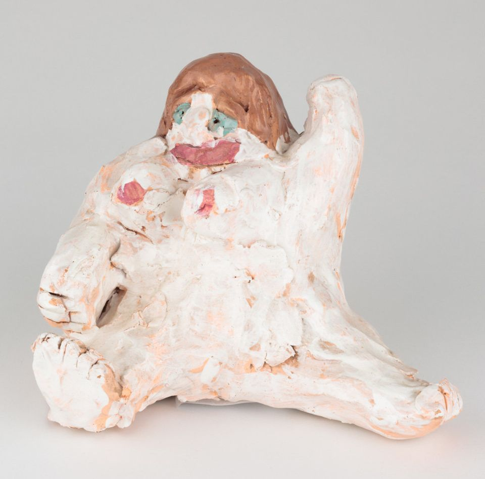 Andrew Bixler, glazed ceramic sculpture, 9 by 9 by 7