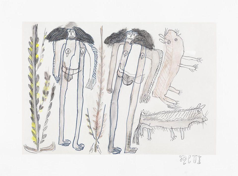 Jose Nunez,colored pencil on paper, 19 by 26.50