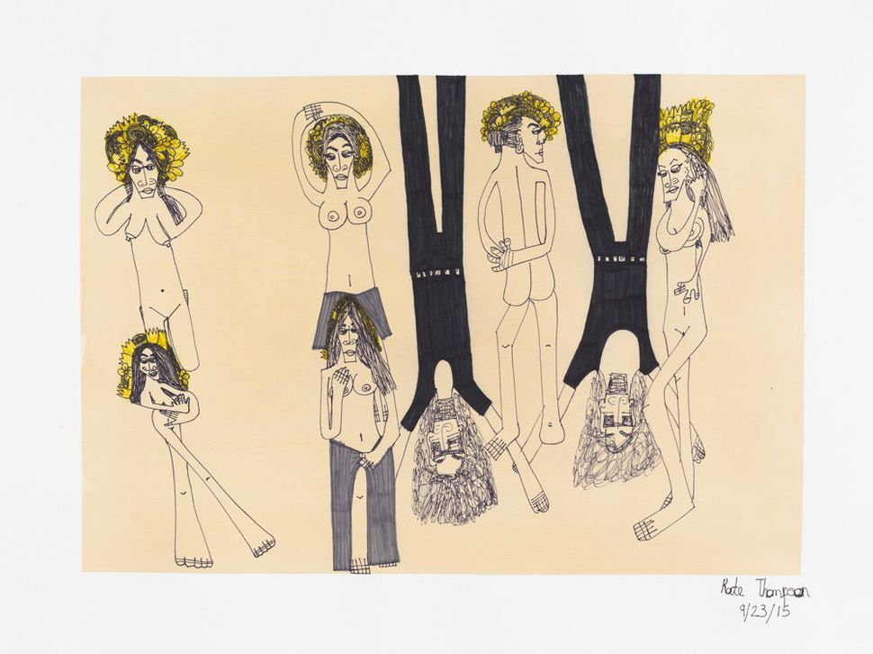 Kate Thompson,marker on paper, 22.25 by 30 inches<i></i>