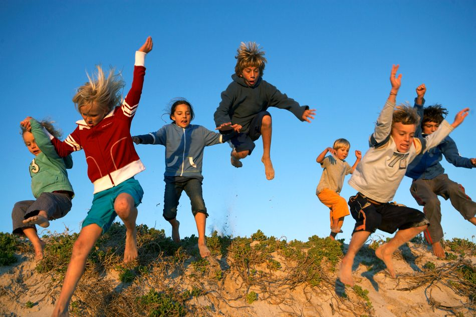 Children love the sociability of a walk and bringing friends increases their activity as they challenge each other to jump the highest or widest, splash in puddles, climb trees or find the best stick.