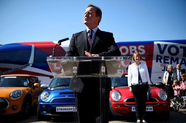 David Cameron told factory workers last year that Brexit would cause an economic