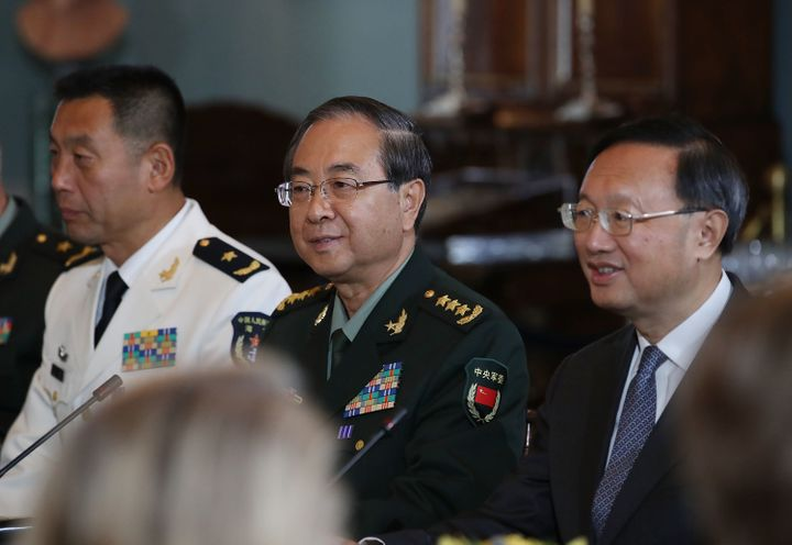 Senior Chinese military and government officials attend the U.S.-China Diplomatic and Security Dialoguein Washington, D