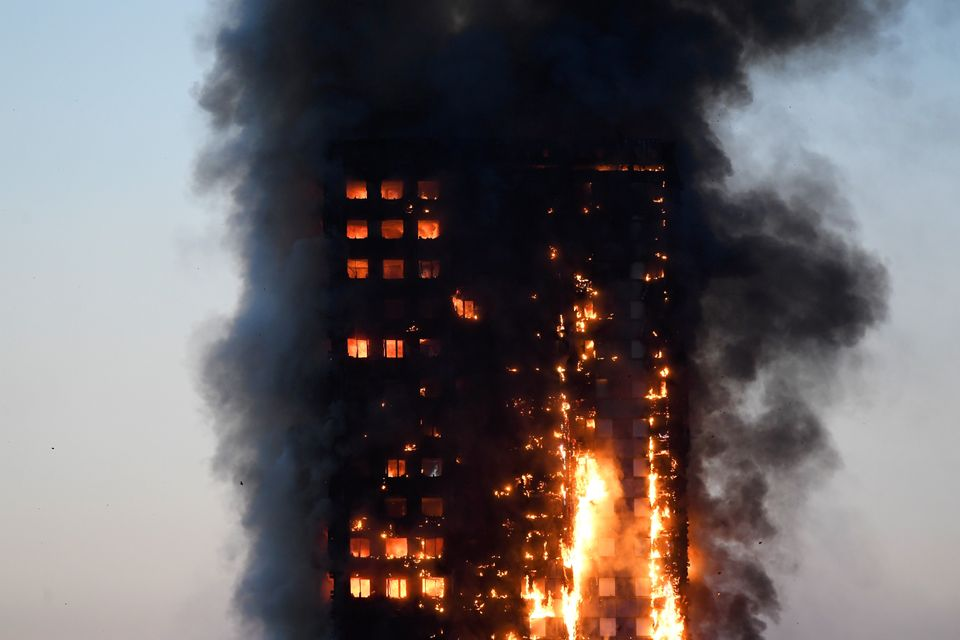 Flames engulfed Grenfell Tower in June, killing at least 80