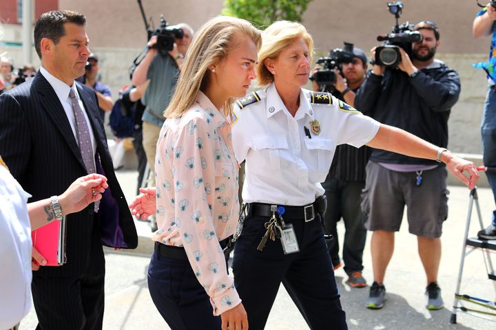 Michelle Carter arrives at the courthouse in June to hear the verdict in her trial.