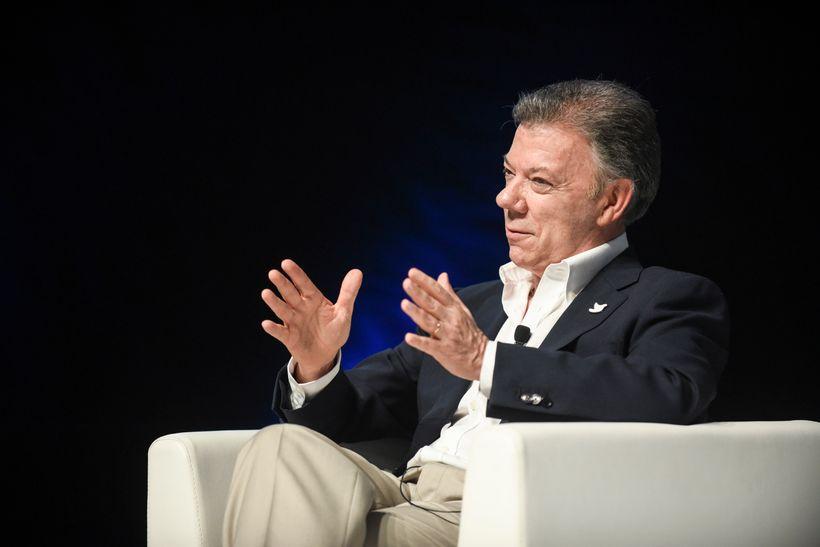 At the 2017 Cannes Lions International Festival of Creativity, Colombian President and Nobel Laureate Juan Manuel Santos shar