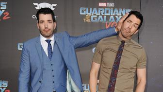 HOLLYWOOD, CA - APRIL 19:  Jonathan Scott and Drew Scott attend the premiere of 'Guardians of the Galaxy Vol. 2' at Dolby Theatre on April 19, 2017 in Hollywood, California.  (Photo by Jason LaVeris/FilmMagic)