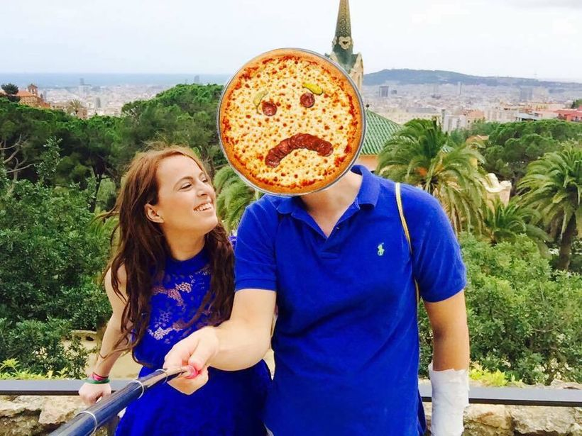 <strong>Sad about the cheating, not about the pizza.</strong>