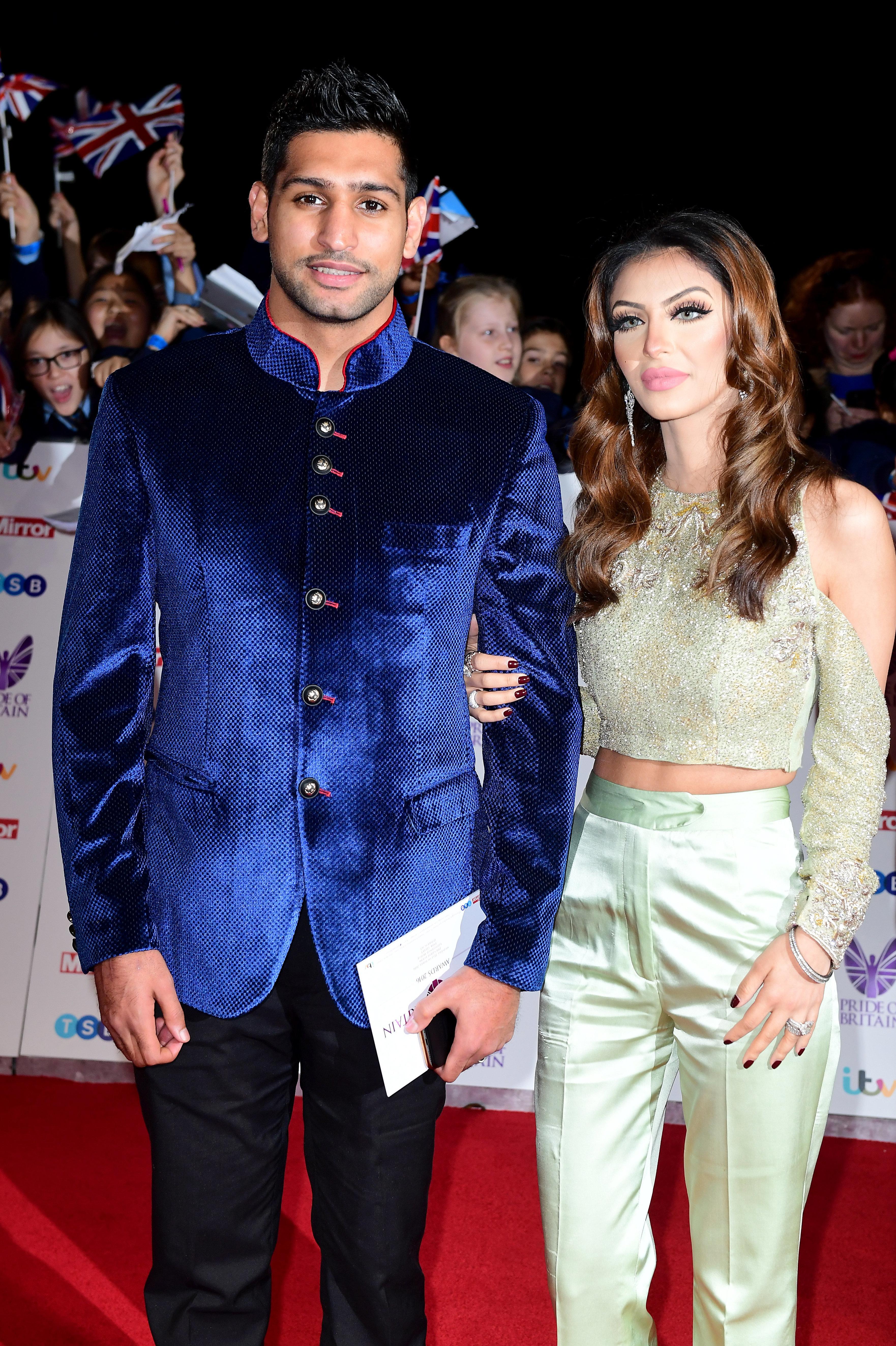 Amir Khan and his wifeFaryal Makhdoom have