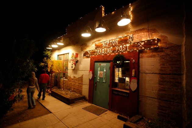 In this picture from 2012, lights at the Nipton Trading Post glow thanks to the 80 kilowatts of...