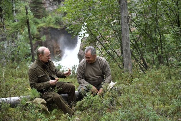Putin shows mushrooms