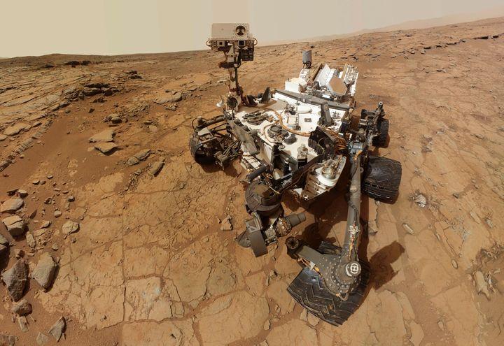The sad robot takes a selfie.