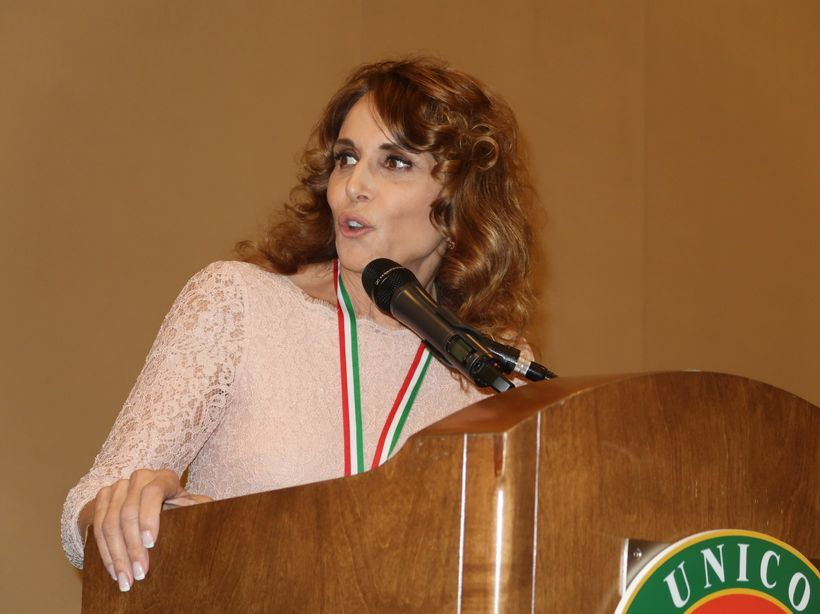 Addressing the UNICO delegates and guests and honoring my Italian Heritage.