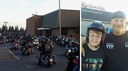 50 Bikers With Big Hearts Escort Bullied 6th-Grader To