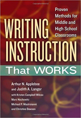 Applebee and Langer have conducted research over decades and examined both what happens with writing in classrooms and why.