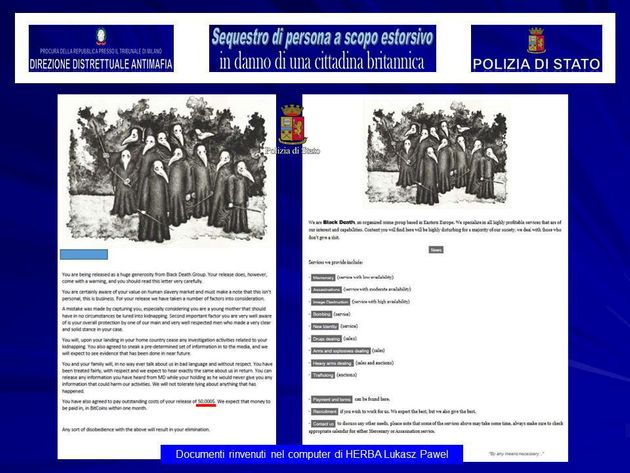 A screenshot of a 'Black Death Group' document on a laptop belonging to