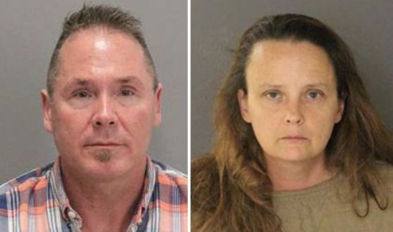 From left: Michael Kellar, 56, and Gail Burnworth, 50, were arrested as part of a child molestation