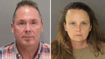 From left: Michael Kellar 56 and Gail Burnworth 50 were arrested as part of a child molestation investigation