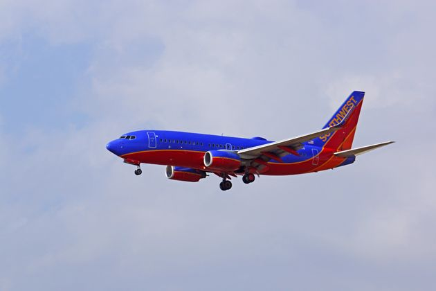A woman seated by a man on a Southwest Airlines flight reported a man for sending disturbing text messages...