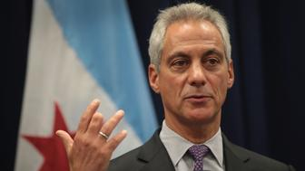 CHICAGO, IL - JANUARY 25:  Chicago Mayor Rahm Emanuel speaks at a press conference where he addressed issues related to the city's murder rate and the city's Sanctuary City policy on January 25, 2017 in Chicago, Illinois. President Donald Trump has threatened to cut federal funding to Sanctuary Cities and has threatened to 'send in the Feds!' if the mayor cannot get the city's violence under control.  (Photo by Scott Olson/Getty Images)