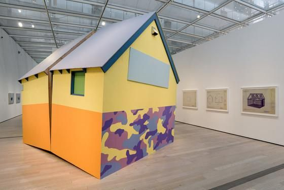 """""""The House That America Built,"""" (2004/2017) by Daniel Joseph Martinez in """"Home—So Appealing, So Different"""""""