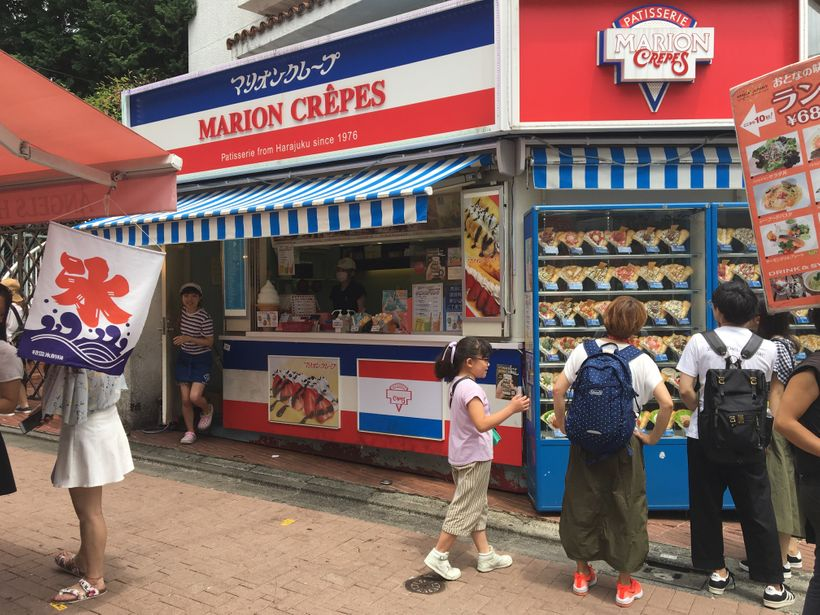 Marion Crepes cooked up Takeshita Dori's crepe obsession back in the seventies.