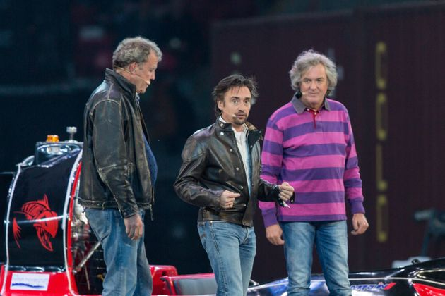 Clarkson, Hammond and May during their 2015 live