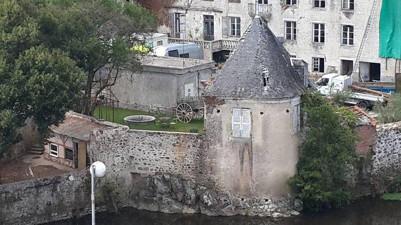 "<em>The ""Tower"" as restoration started</em>"