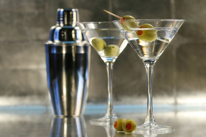 A couple of martinis that were shaken, not stirred.
